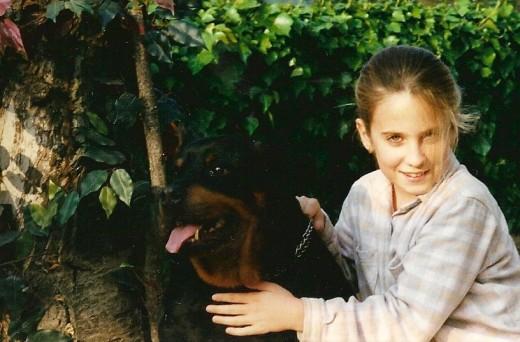 Mi perra, fué siempre mi ángel de la guarda.